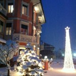 Il Natale nel giardino dell'Hotel Luis
